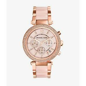 MICHAEL KORS Parker Rose Gold Blush Watch